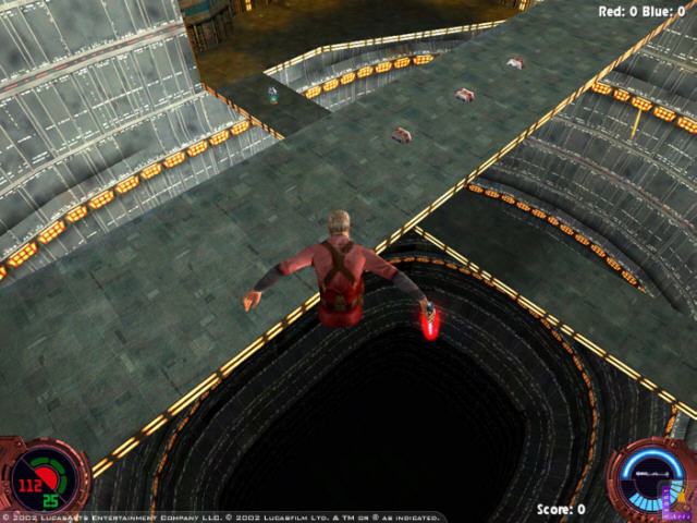 Кадр из игры Star Wars Jedi Knight II: Jedi Outcast.